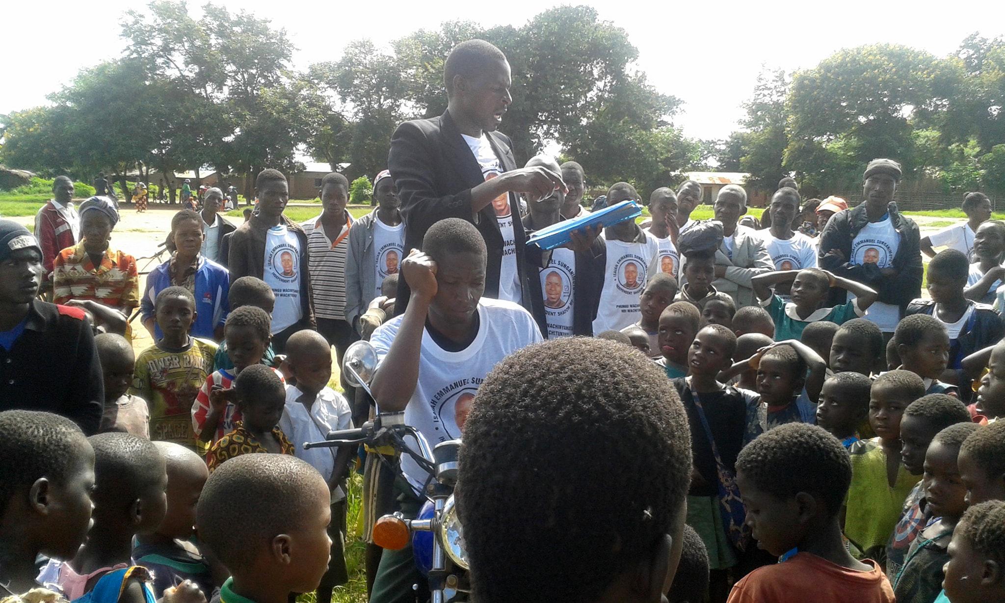 Voglio vincere le elezioni nel Malawi