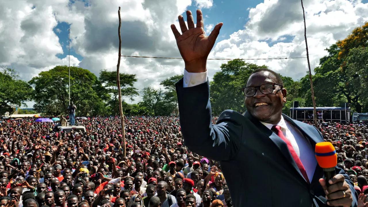 La democrazia trionfa nel Malawi il leader dell'opposizione ha vinto le elezioni politica elettorale isaiah sunganimoyo